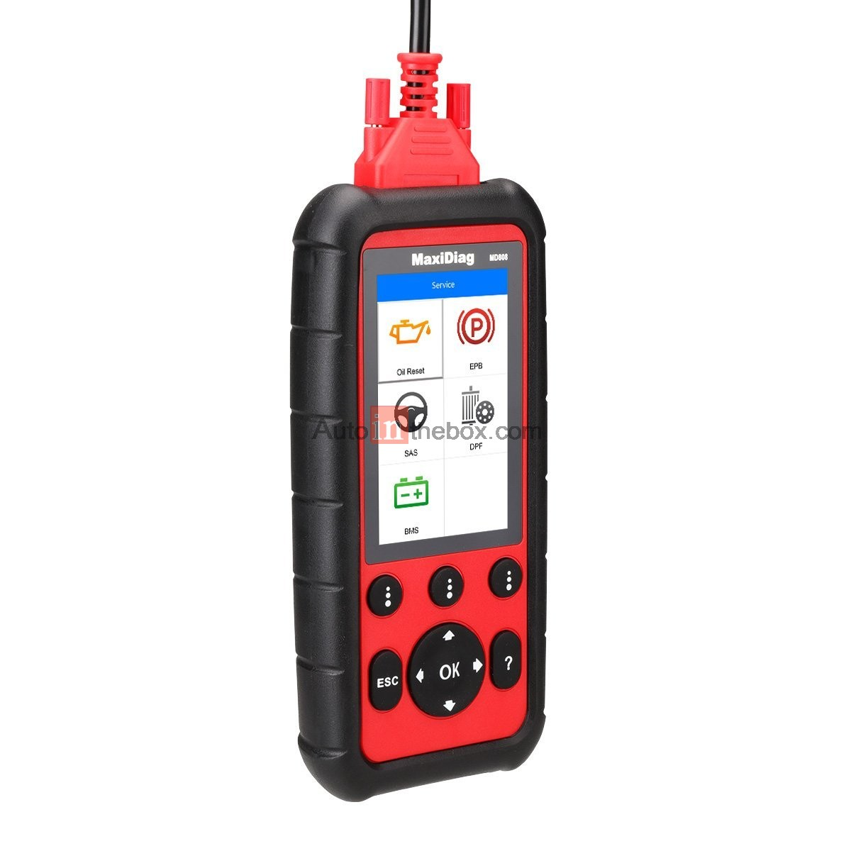 Autel MaxiDiag MD808 Diagnostic Scanner tool for basic four systems with  Oil Reset, EPB function, SAS, DPF, BMS Free Updating for Lifetime