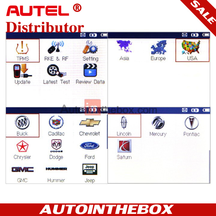 AUTEL MaxiTPMS TS501 TPMS diagnostic & service tool activate any known OEM/ Univeral TPMS sensors / Reprogram the vehicle's ECU /  Turn off the warning lights