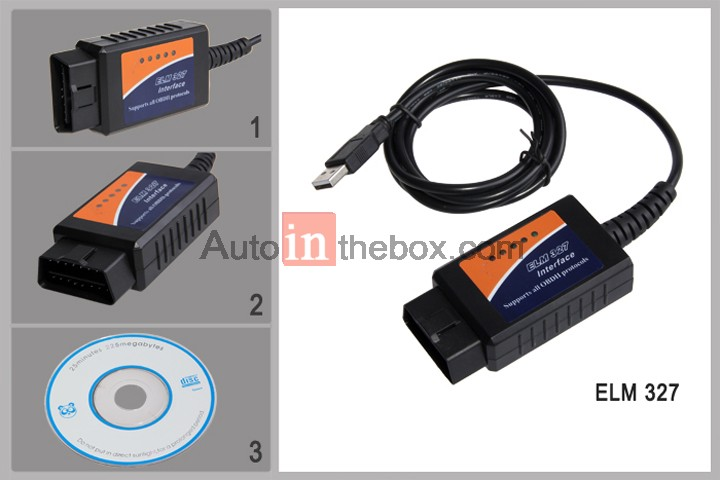 elm 327 usb obd obdii cable for car diagnostic interface scanner tool. Black Bedroom Furniture Sets. Home Design Ideas