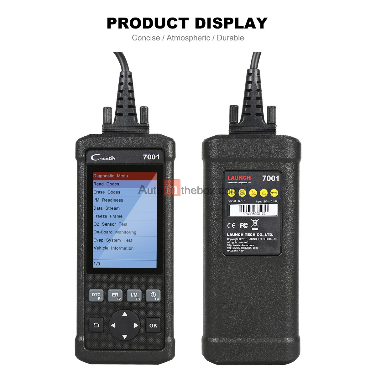 Launch CReader 7001 Code Reader Full OBDII/EOBD Diagnostic Functions Scanner/Scan Tool