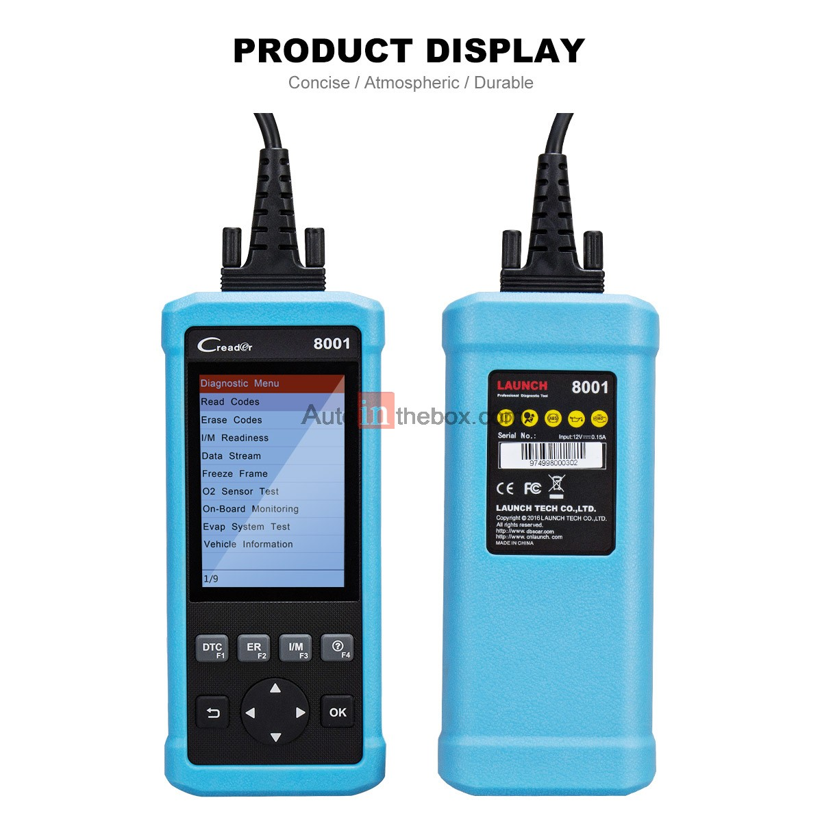 $128.00 Launch CReader 8001 Car Code Reader Full OBDII