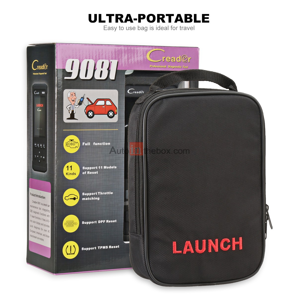 Launch CReader 9081 Car Code Reader OBDII Diagnostic Scanner Tool with TPMS  Oil Lamp Reset