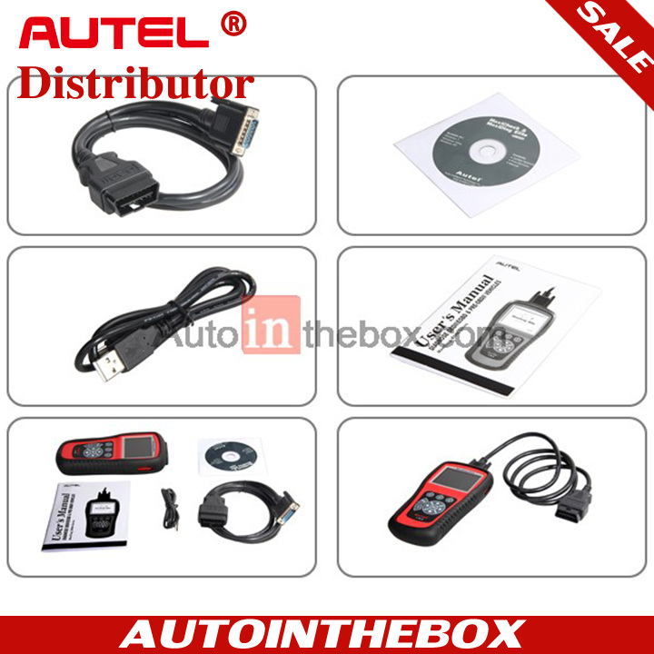 AUTEL MaxiDiag Elite MD802 4 system / All System + DS model + EPB + OIL Service Reset and support data stream function Engine + Transmission + ABS + Airbag + Major Electronic Models