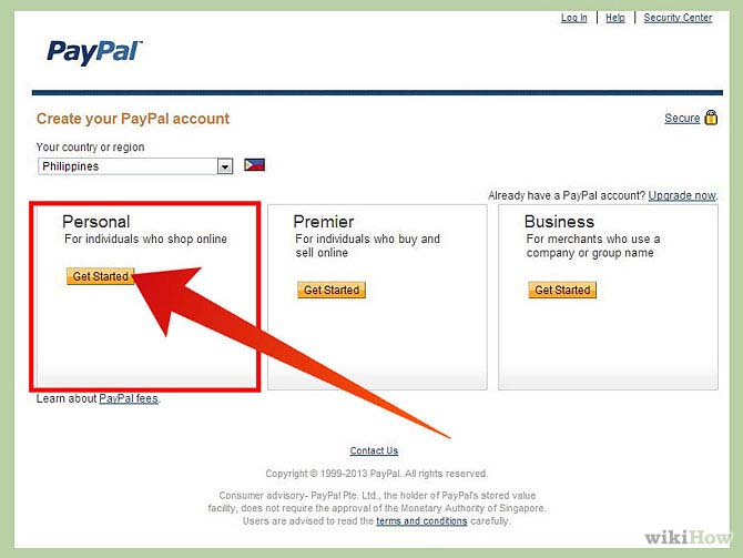how to get and use paypal account