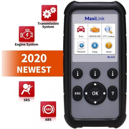 Autel MaxiLink ML629/AL629 ABS Airbag Engine Transmission 4 systems Code reader Lifetime Free Update online