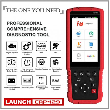 LAUNCH CRP429 OBD2 Full Systems Trouble Code Reader Diagnostic Scanner Tool for Cars Status Checking Similar To Autel MK808