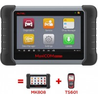 100% original Autel MaxiCOM MK808TS OBD Diagnostic Scanner with TPMS service and Wireless Bluetooth better MK808 and MX808