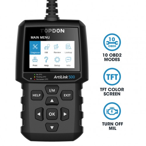 TOPDON ArtiLink AL500 OBD2 Code Reader Scanner Diagnostic Tool Free Lifetime Update