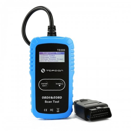 TOPDON TD300 Automatic Scanner OBDII Code Reader  with functions for Checking Engine Light Turn-off and I/M Readiness