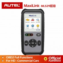 Autel MaxiLink ML529HD (Upgrade Version Of ML529) OBD II/EOBD Code Reader Heavy Duty Vehicles Test Scanner Tool Check Engine Light/   Malfunction Indicator Light (MIL)