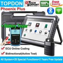 TOPDON Phoenix Plus OBD2 Advanced Diagnostic Tool with ECU Coding Activation Test 2 Year Free Update