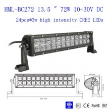 13.5 inch 72W CREE Led Light Bar Flood Light Spot Light Work Light Off Road Light 4WD Boat White