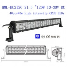 21.5 inch 120w CREE Led light bar FLOOD light SPOT light WORK light off road light 4wd boat 12V 24V on sal