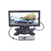 7 inch TFT LCD Color Car Rearview Headrest Monitor DVD VCR