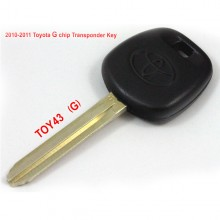 Buy 2010-2011 Toyot G Chip Transponder Key