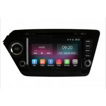 Ownice 8'' HD 1024*600 Quad Core Car DVD Player For Kia K2 Rio 2011 2012 Android 4.4.2 + Built-in WiFi/Bluetooth + DVD + GPS Navigation + FM/AM Radio + RDS + Bluetooth + Multimedia + USB/SD + AUX