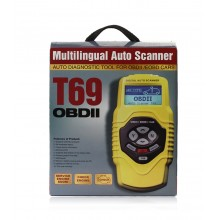 QUICKLYNKS T69 OBDII Code Scanner diagnostic tool Multilanguage Reader