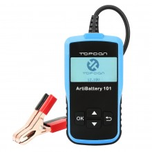 TOPDON ArtiBattery101 Vehicles Automotive Battery Analyzer for Checking Battery Health Status Cranking & Charging System Tester