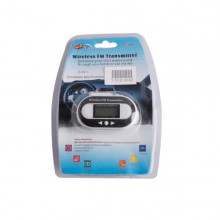 Wireless FM Transmitter + Car Charger for MP3 ipod Player White