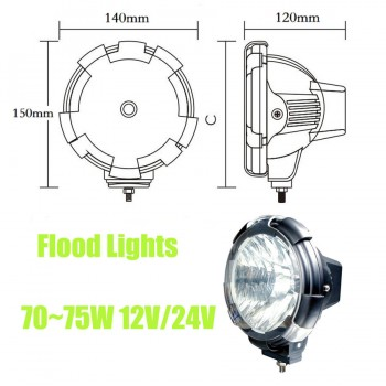 Buy 4 inch Inch HID XENON DRIVING Striped flood OFF ROAD Lights 4x4 4WD 75W 6000K 12V 24V