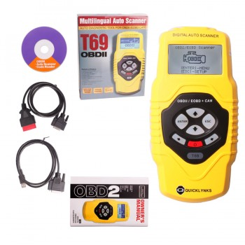 Buy Buy OBDII Auto Vehicle Scanner Diagnostic Tool T69(multilingual,updatable)