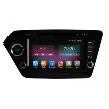 Buy Ownice 8'' HD 1024*600 Quad Core Car DVD Player Kia K2 Rio 2011 2012 Android 4.4.2 + Built-in WiFi/Bluetooth GPS Navigation FM/AM Radio RDS Bluetooth Multimedia USB/SD AUX