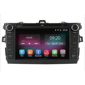 Buy Ownice 8'' HD1024*600 Quad Core Car DVD Player Toyota Corolla 2006-2011 Android 4.4.2 + Built-in WiFi/Bluetooth GPS Navigation FM/AM Radio RDS Bluetooth Multimedia USB/SD AUX