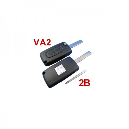 Buy Citroen Remote Key 2 Button Mhz 433 VA2 2B( without groove)