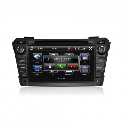 CASKA CA393-KR7 CAR DVD Player fit Hyundai i40 2012-2014 OEM standard car in-dash system High quality auto GPS multimedia free GPS Navigation Sygic map