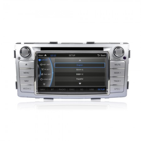 CASKA Car DVD CA163-Q5 Toyota Hilux 2012-2014 OEM standard car in-dash DVD Player system 8 inches touch screen 800X480 Windows CE 6.0 Navigation free Sygic map