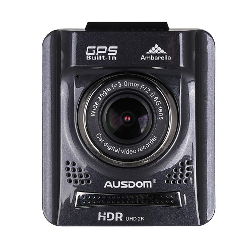Ausdom® A261 HD Car Dash Cam DVR with GPS and 2 Inch View screen-Auto Dashboard Video Camera Recorder / Vehicle Camcorder Type Black box with G-Sensor for Auto-Recording