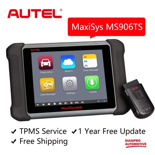 AUTEL MaxiSys MS906TS TPMS Advanced Wireless Diagnostic Tool Integrated with the TPMS Antenna Module