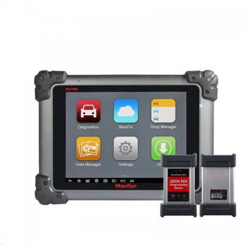 Autel MaxiSys Pro MS908P Wifi/Bluetooth OBD Full System Diagnostic and ECU Coding Programming System with J2534 ECU Preprogramming Box/VCI Model