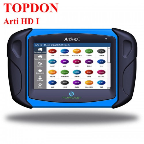 TOPDON ArtiHD I High Quality Heavy Duty Truck Scanner Professional Diagnostic tool Automotive OBD2 Scanner with ECU Programming System